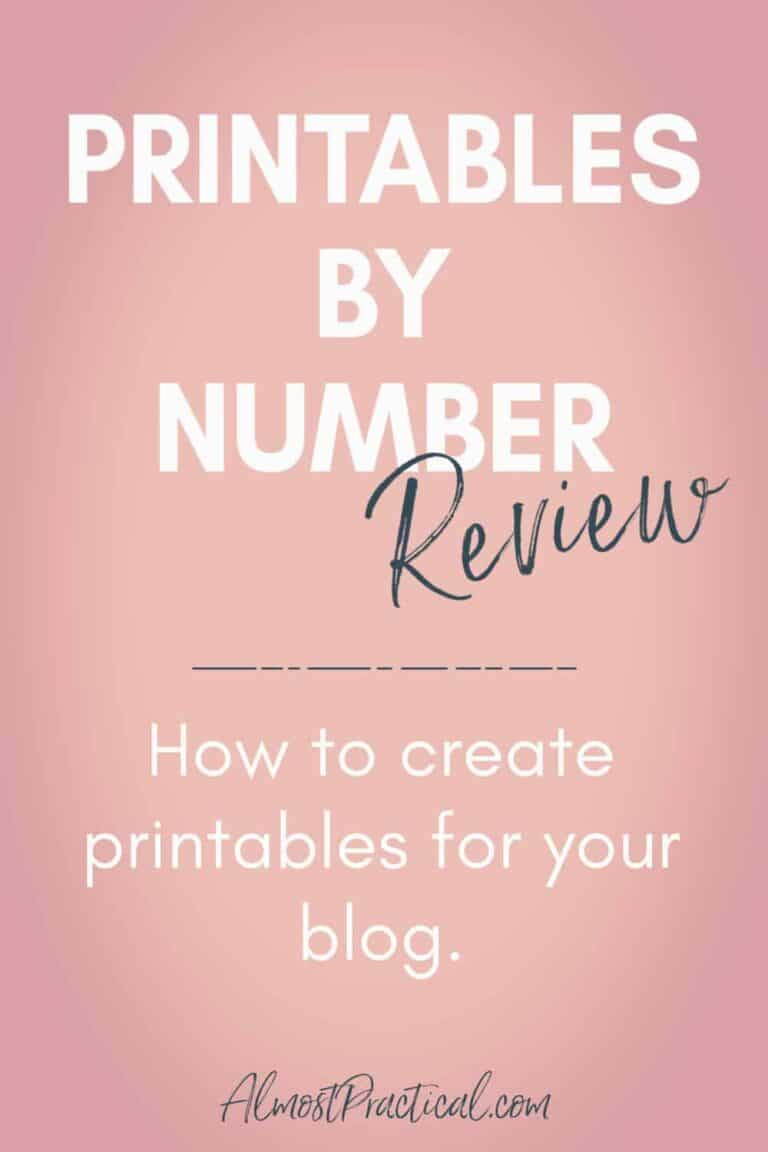 Printables by Number Course Review