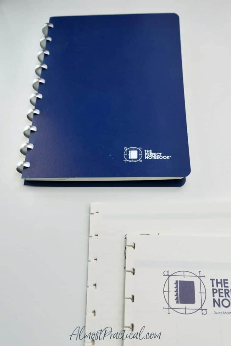 The Perfect Notebook and some refill packs.