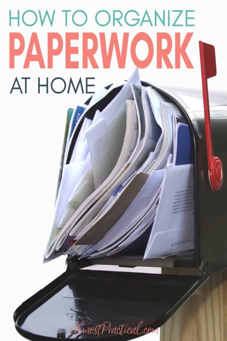 Paperwork Organization Guide – How to keep your papers organized at home.