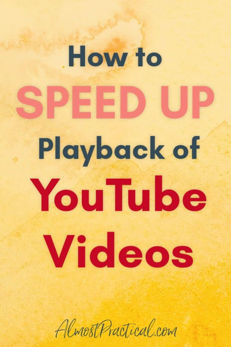 How to Speed Up Playback of YouTube Videos