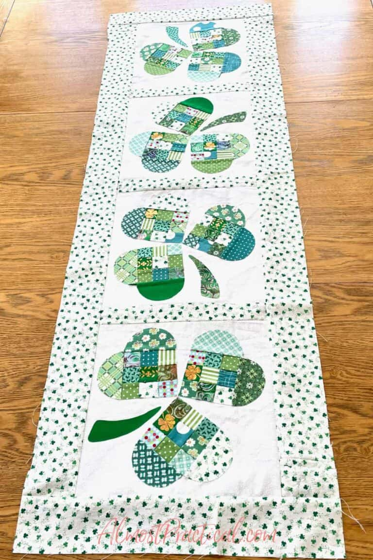 DIY Quilted St. Patrick's Day Table Runner – Take 2