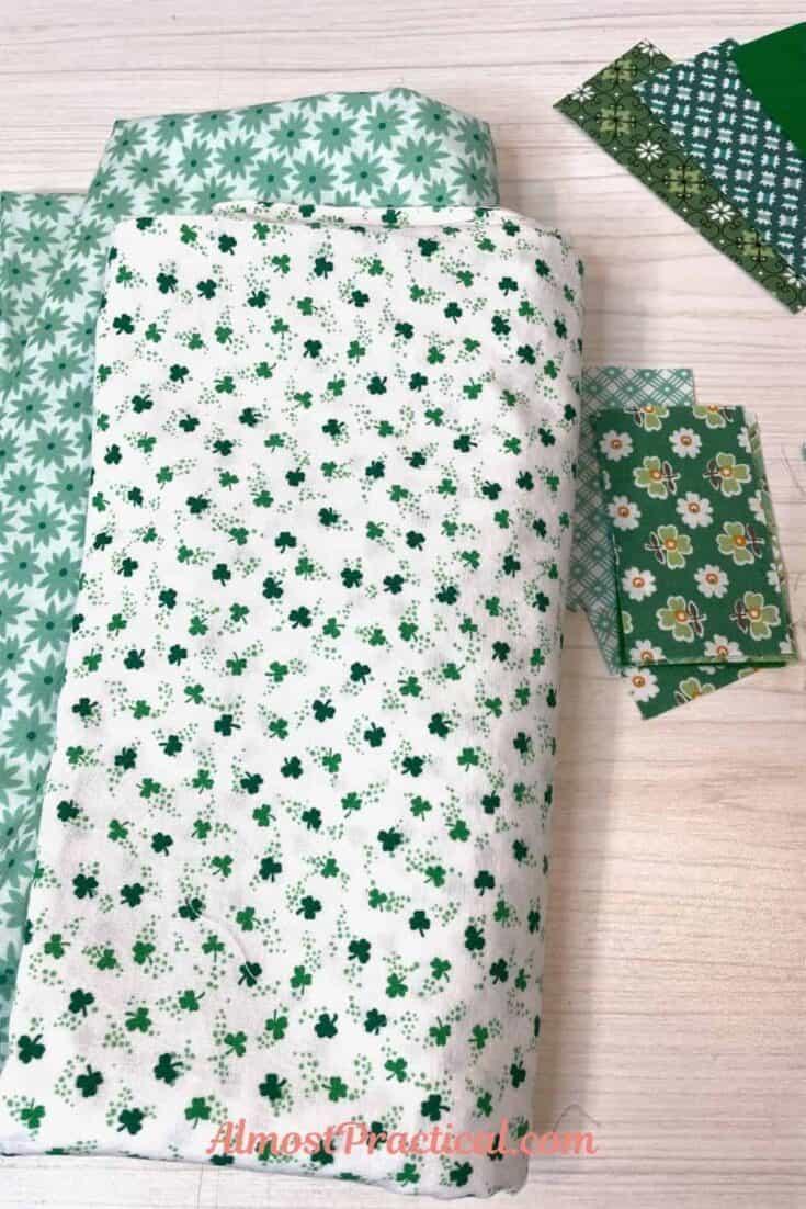 shamrock printed fabric