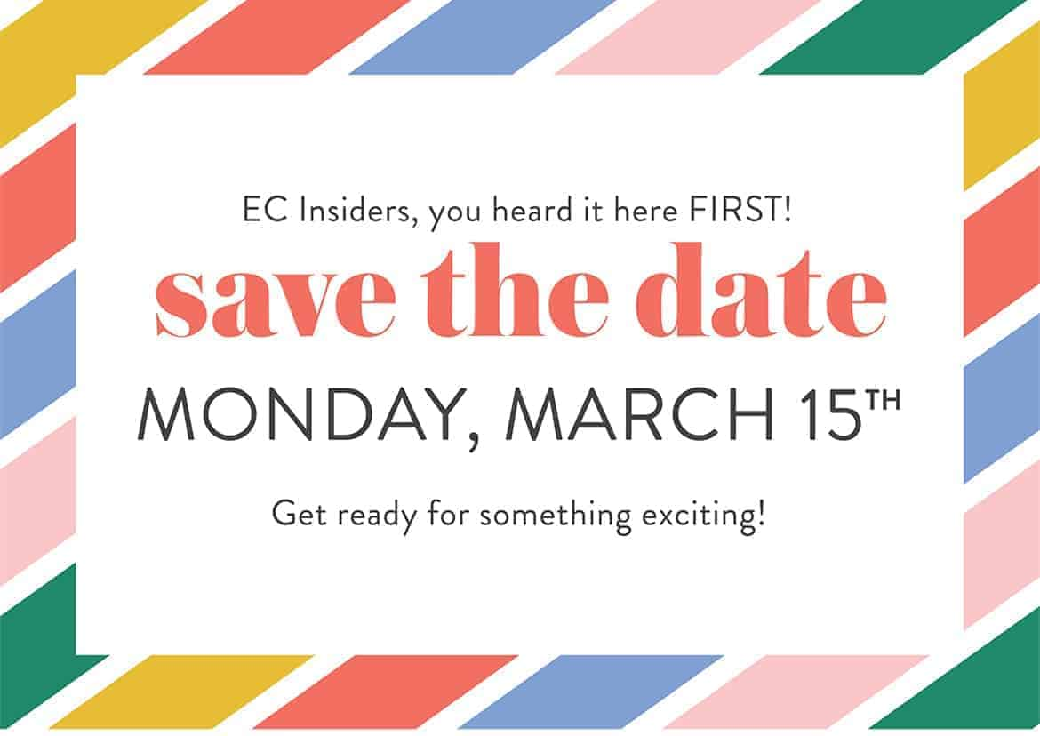 Save the date for March 15, 2021 for a special happening at Erin Condren