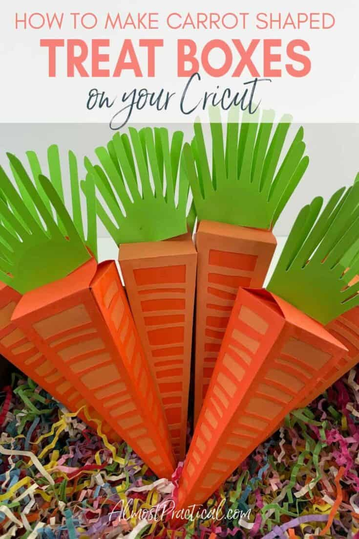 carrot shaped treat boxes in a basket