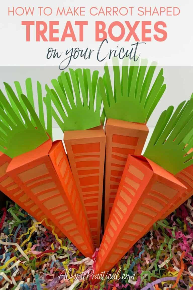 Carrot Shaped Easter Treat Boxes to Make on a Cricut