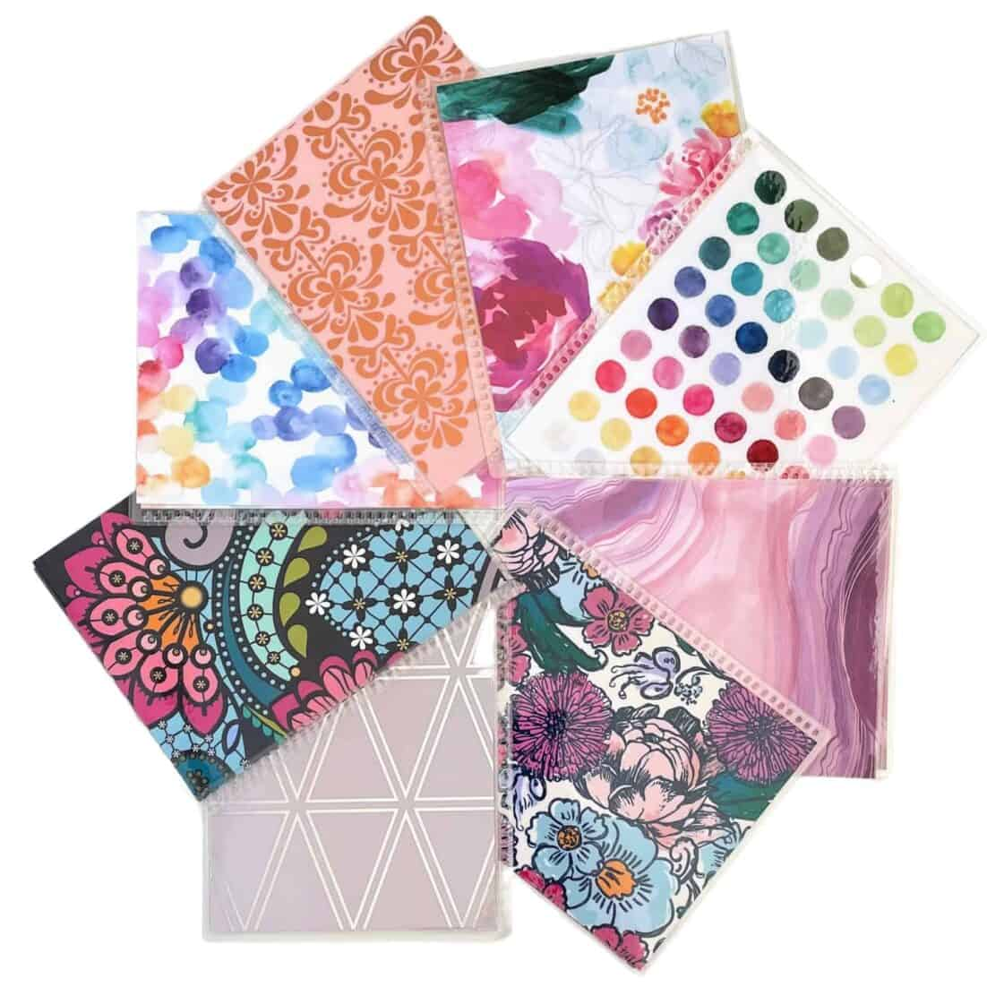 Erin Condren LifePlanner covers spread in a circle