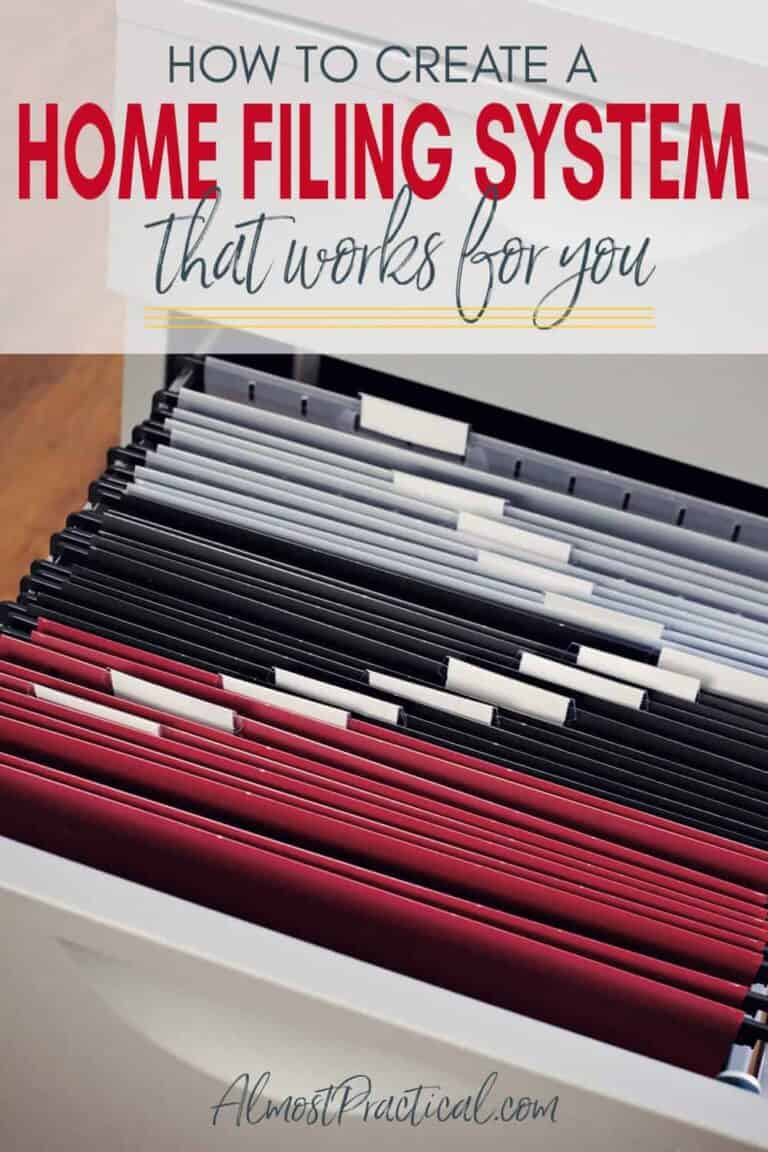 How to Create a Home Filing System that Works for You