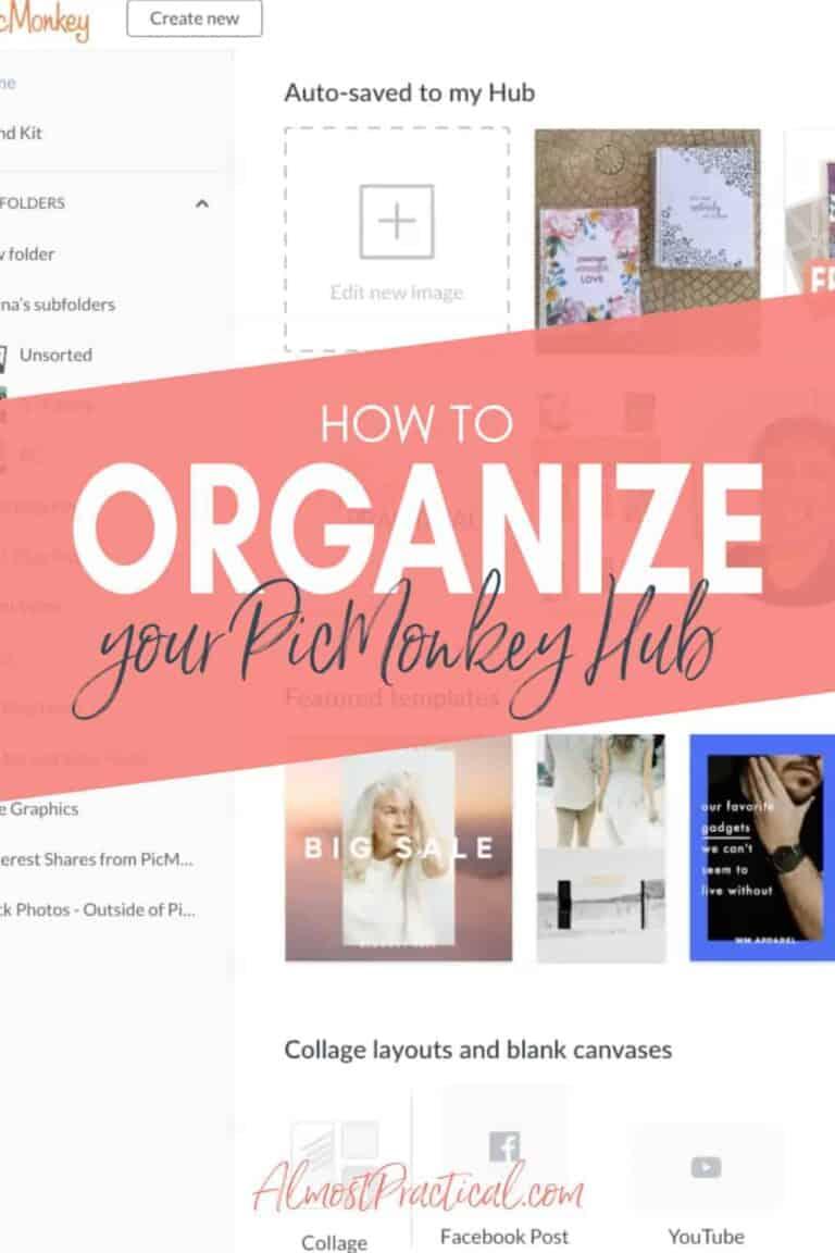 How to Organize Your PicMonkey Hub