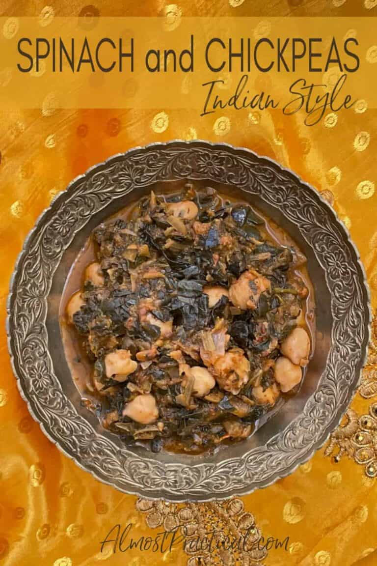 Spinach and Chickpeas – Indian Style
