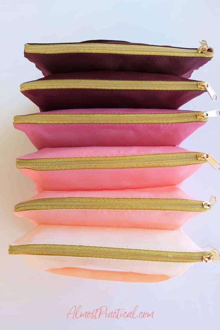 blush accordion pouch