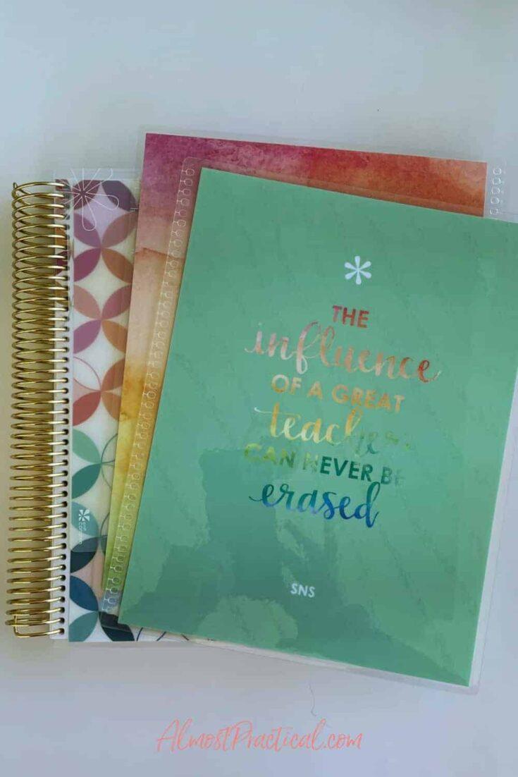 interchangeable cover for the the Erin Condren Teacher Lesson Planner