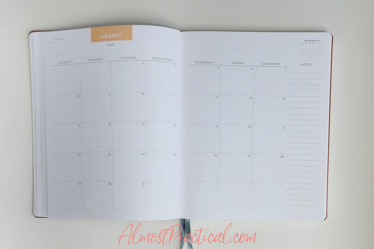 monthly pages in the Erin Condren Teacher Lesson Planner Focused design