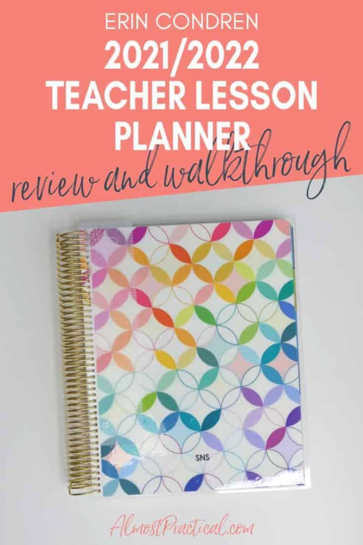 Erin Condren MidCentury Circles Teacher Lesson Planner