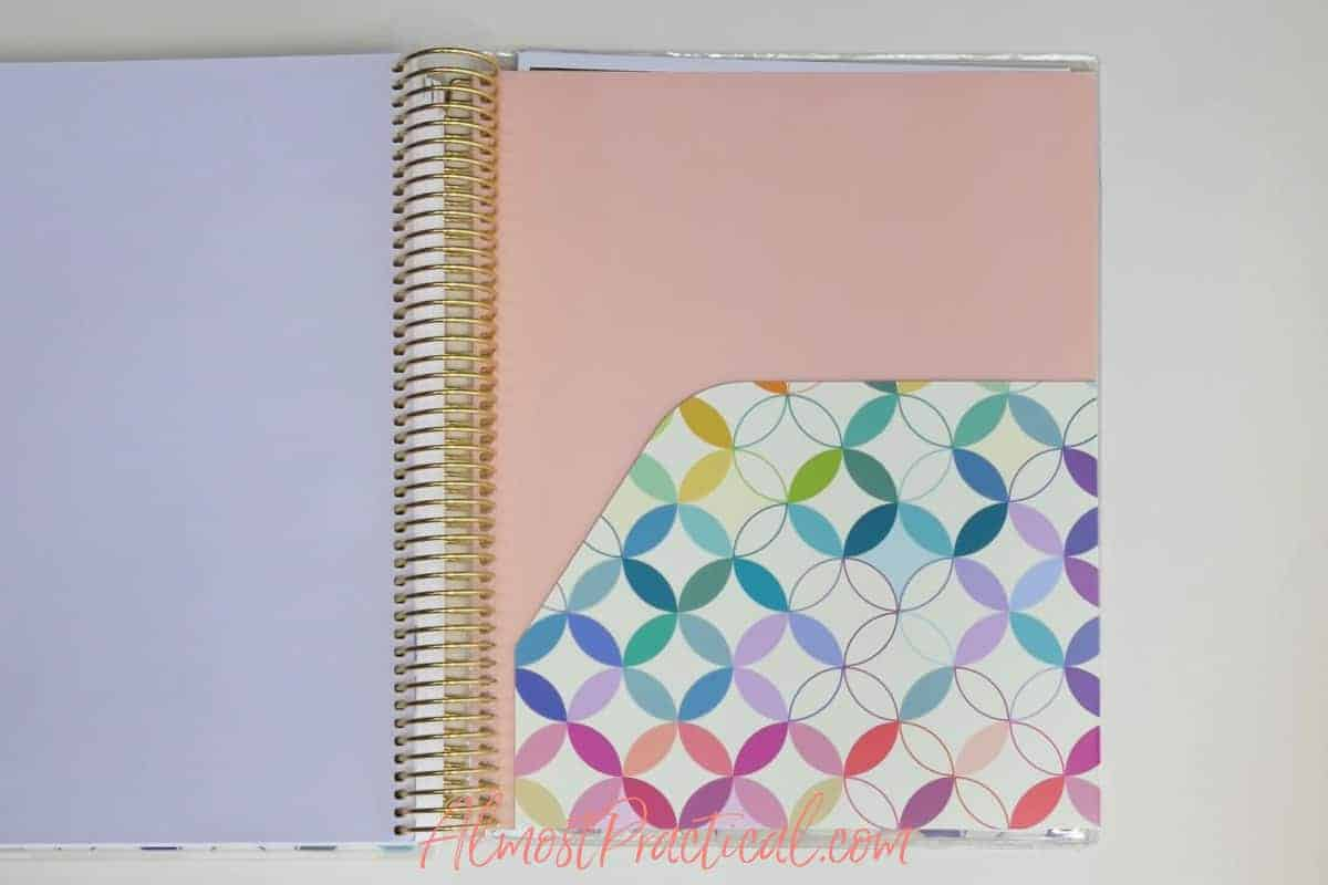 folder in the Erin Condren Teacher Lesson Planner