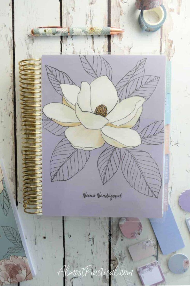 Erin Condren LifePlanner Flora design