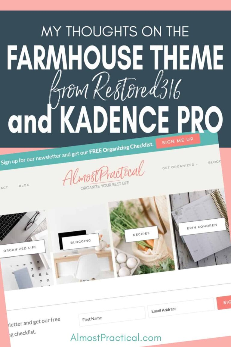 Farmhouse Theme and Kadence Pro Theme Review