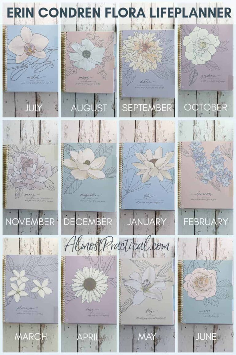 Erin Condren LifePlanner Review – Flora Hourly Design – 2021/2022