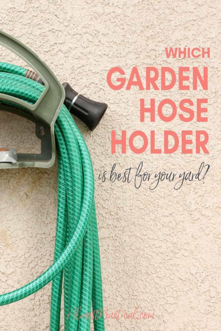 garden hose on holder