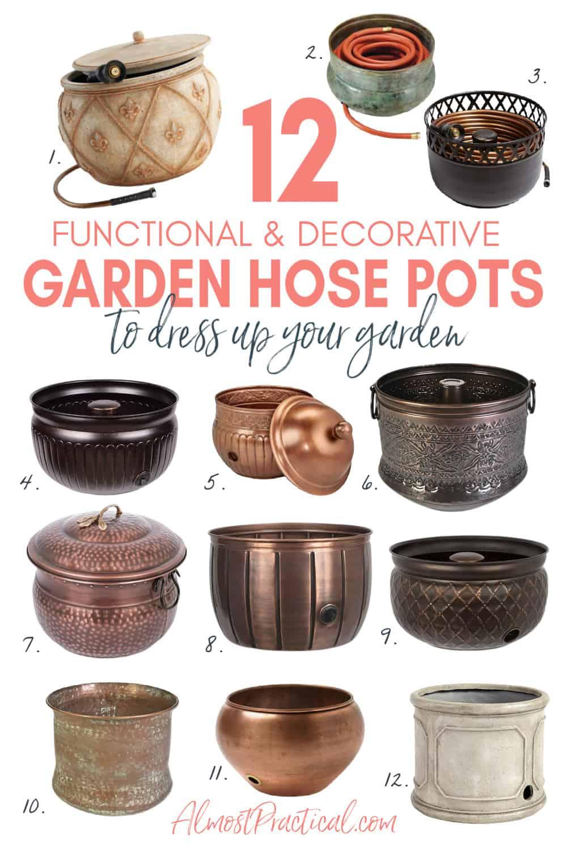 12 Gorgeous Garden Hose Pots That Look Great In Your Garden