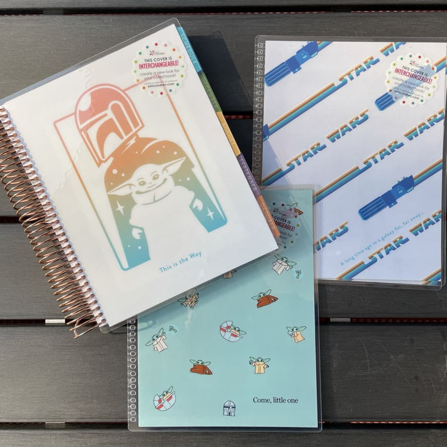 a set of interchangeable covers for the Erin Condren LifePlanner featuring the Star Wars characters and theme