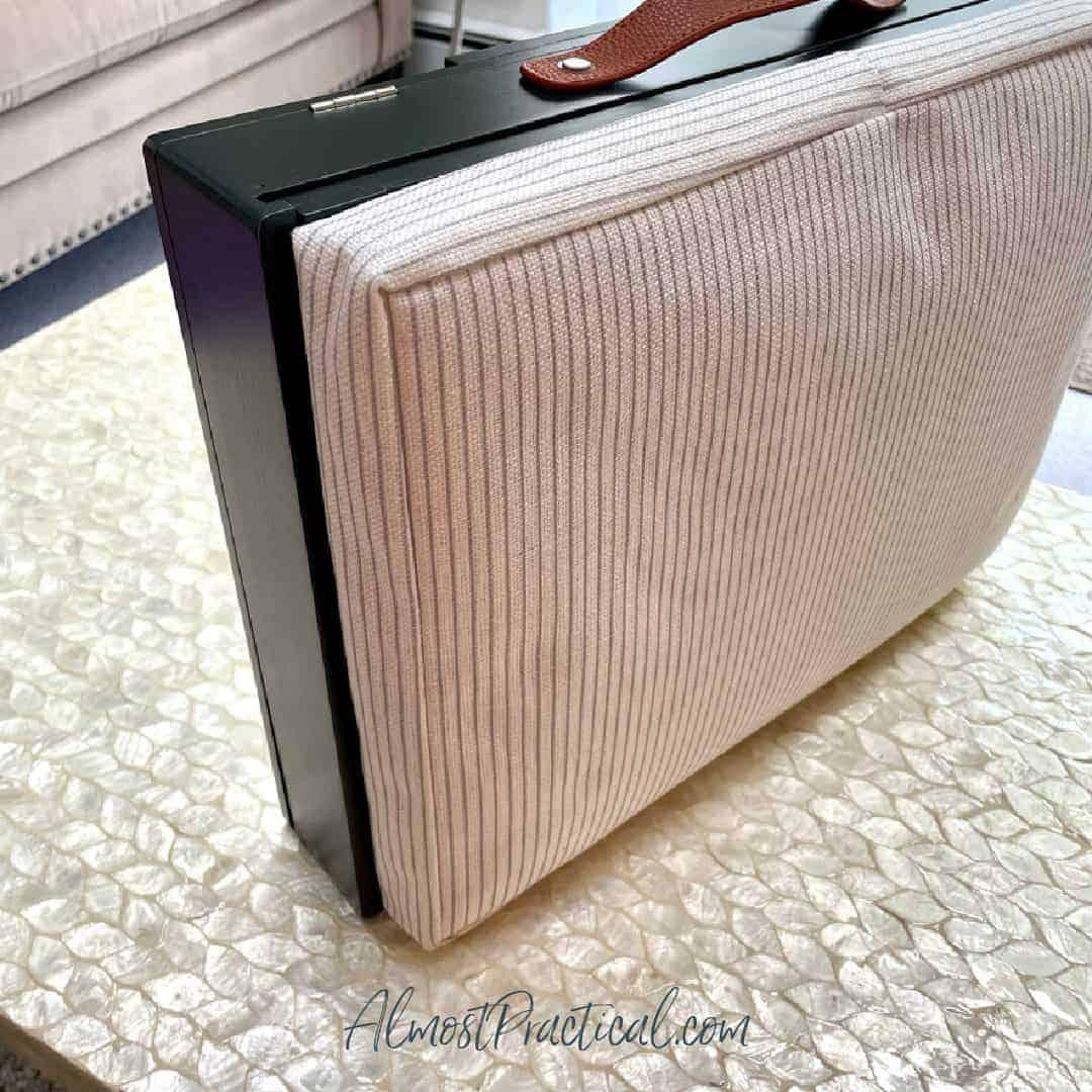 Erin Condren lap desk - with Pinstripe cushion