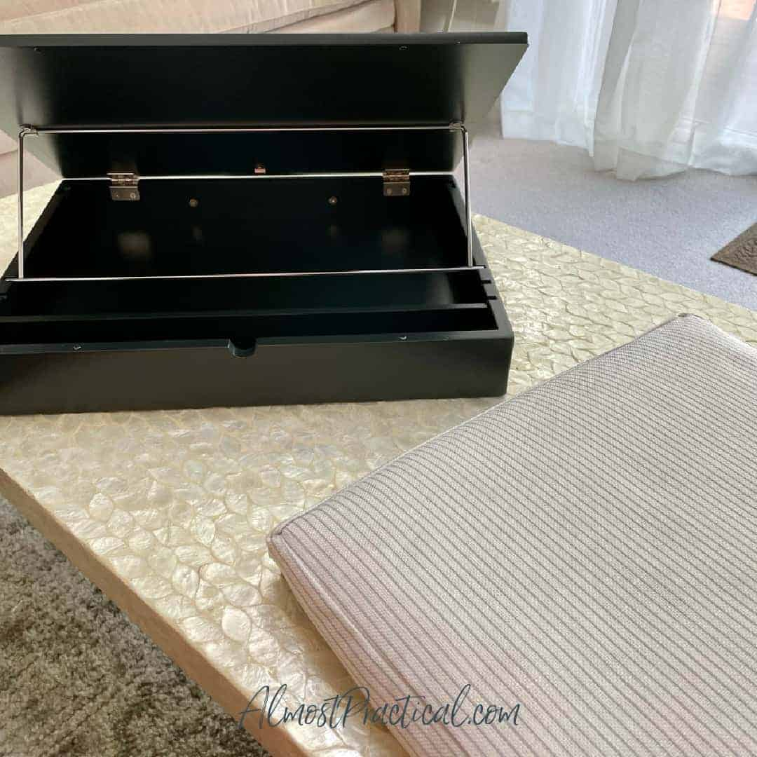Erin Condren lap desk with cushion removed