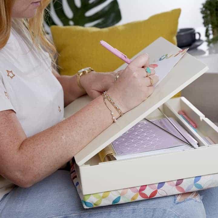 Erin Condren lap desk in mid century circles design