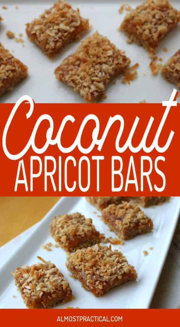Easy coconut apricot bars for a crowd. Of all dessert recipes this one is sure to impress. Cut into squares and serve. #recipes #desserts #bars #entertaining #food #partyfood