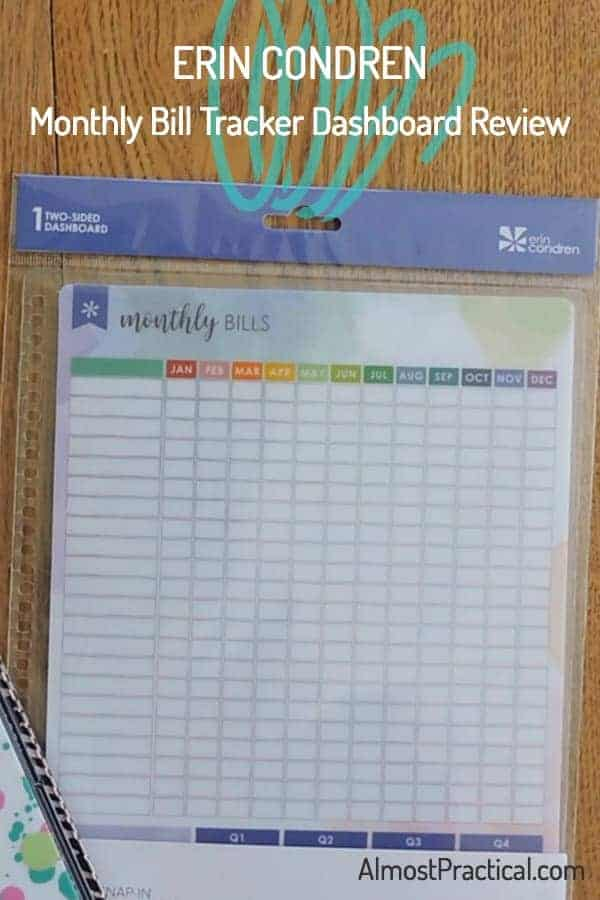 A Bill Payment Organizer from Erin Condren