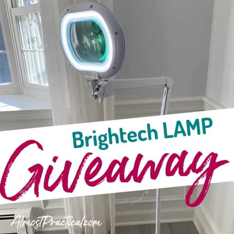 Brightview XL Magnifying Glass Lamp GIVEAWAY
