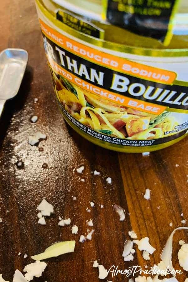 the low sodium chicken bouillon that I use in this Instant Pot cauliflower soup recipe