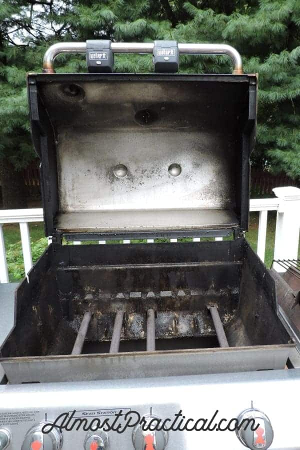 how to clean inside grill