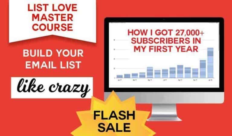 List Love Master Course Sale from Jennifer Maker