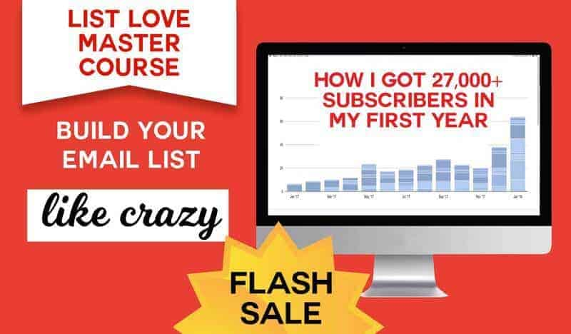 List Love Master Course Flash Sale