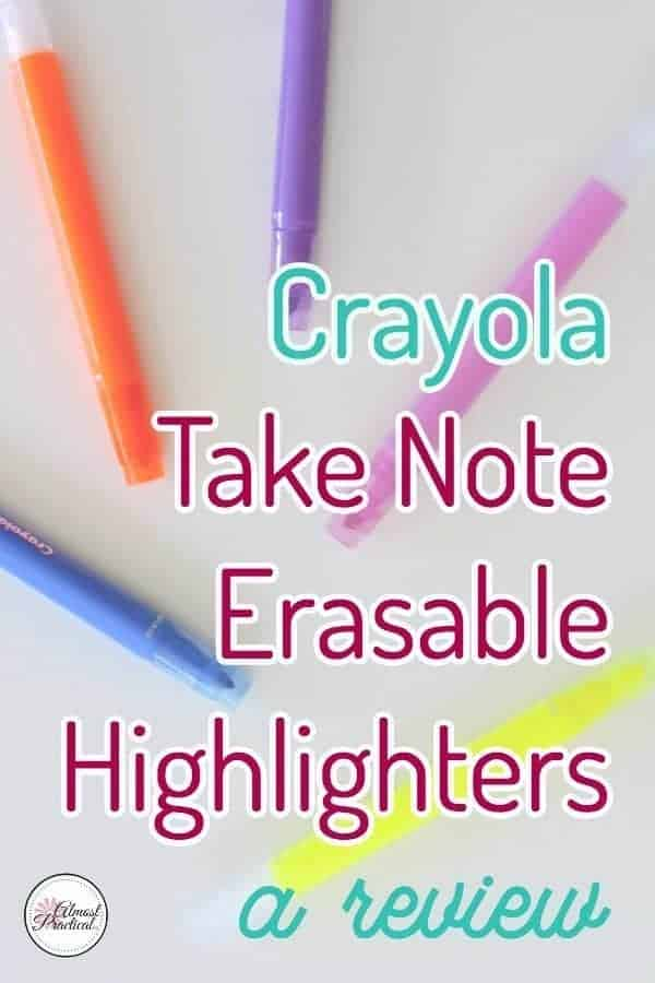 Crayola Take Note Erasable Highlighters Review