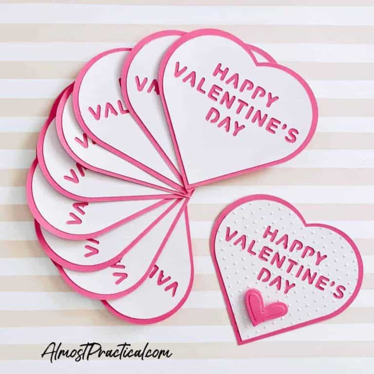 Simple Cricut Valentine's Day Cards That You Can Make Last Minute