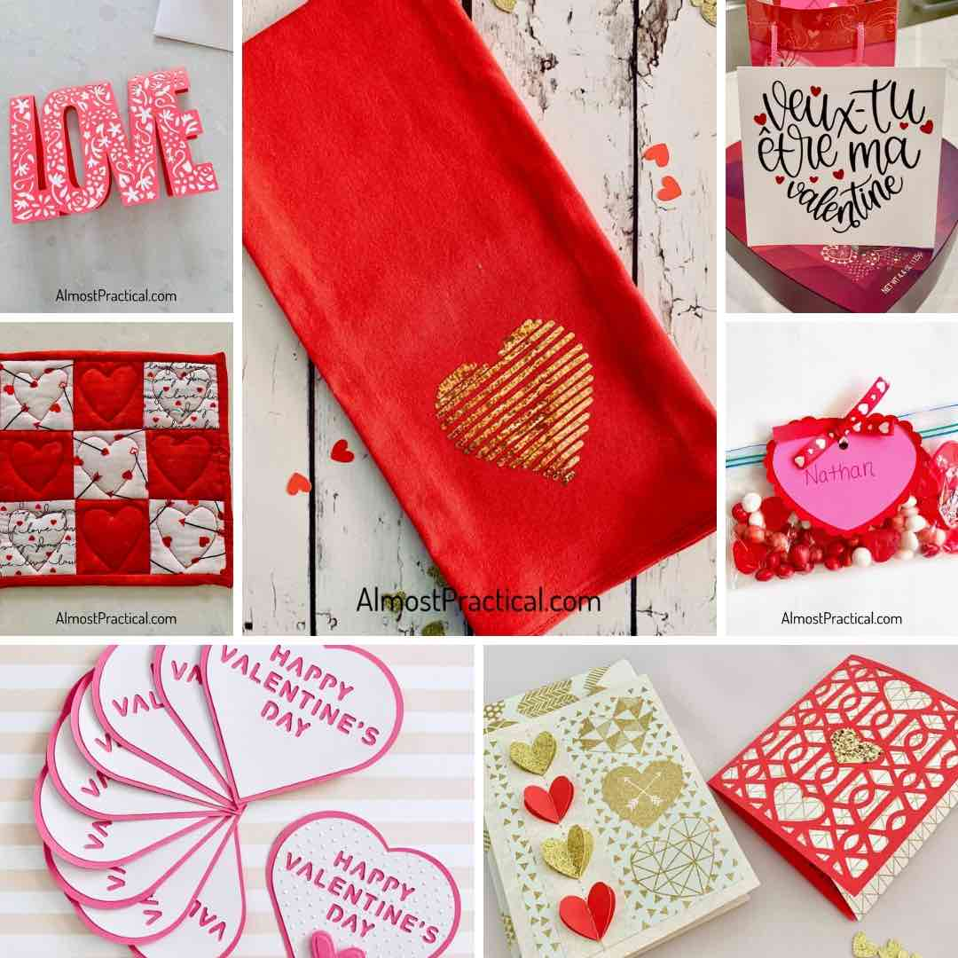 Cricut Valentine's Day Projects Collage