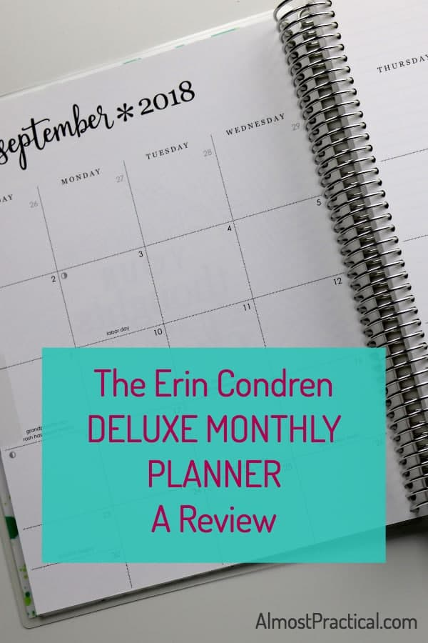 deluxe monthly planner review