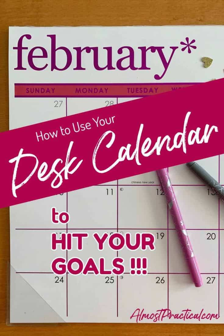 How to Use a Desk Calendar