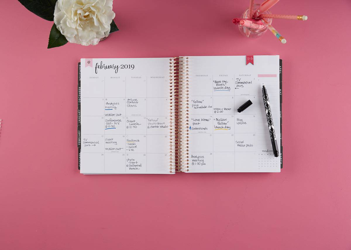 Erin Condren Deluxe Monthly Planner Layout