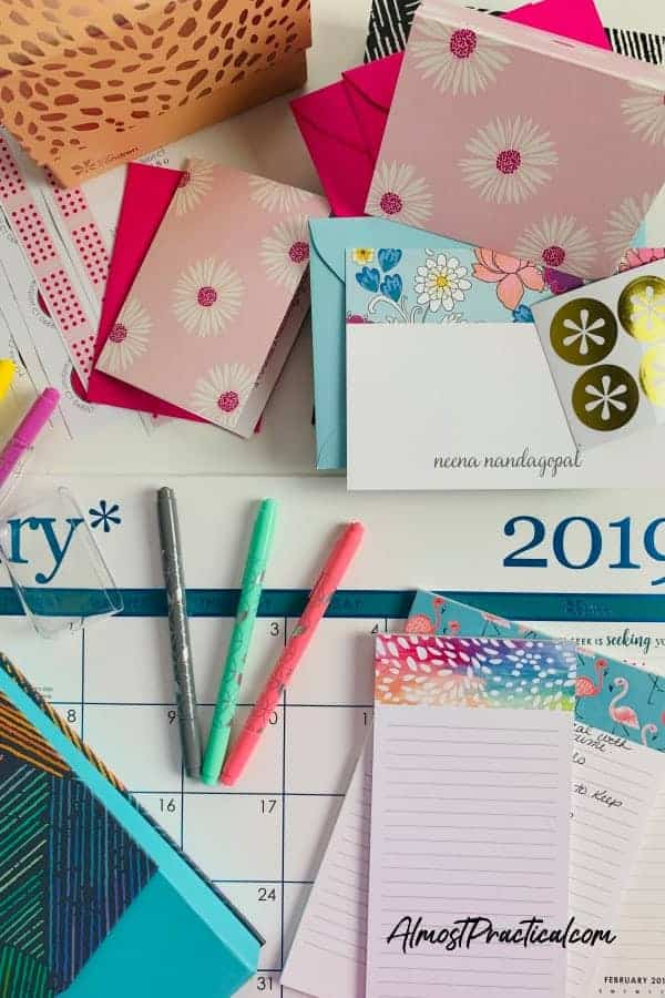 Erin Condren Product - notecards, calendars, pens