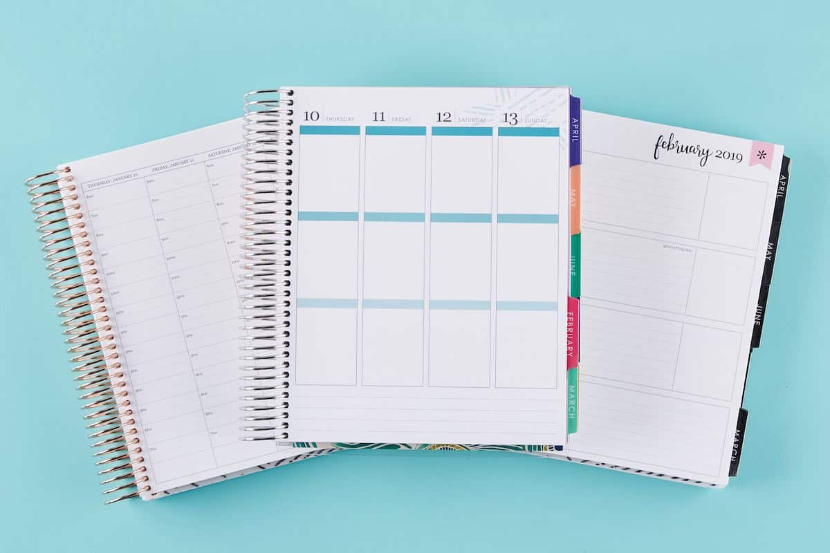erin condren life planner layouts and colors