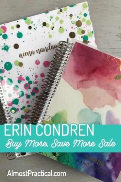 Erin Condren Buy More, Save More Sale!