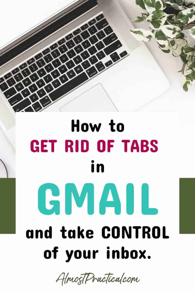 How to Get Rid of Gmail Tabs