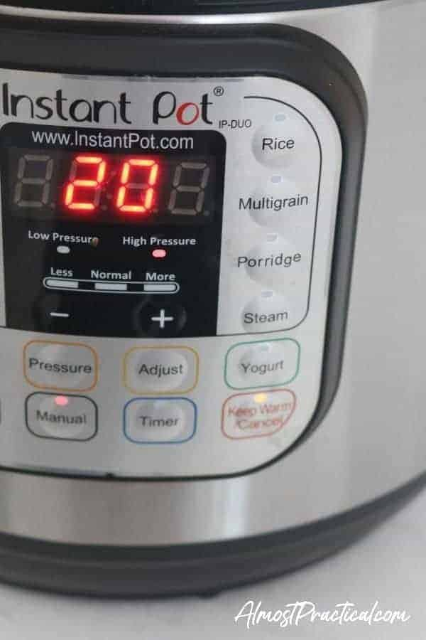 Instant pot setting for beets