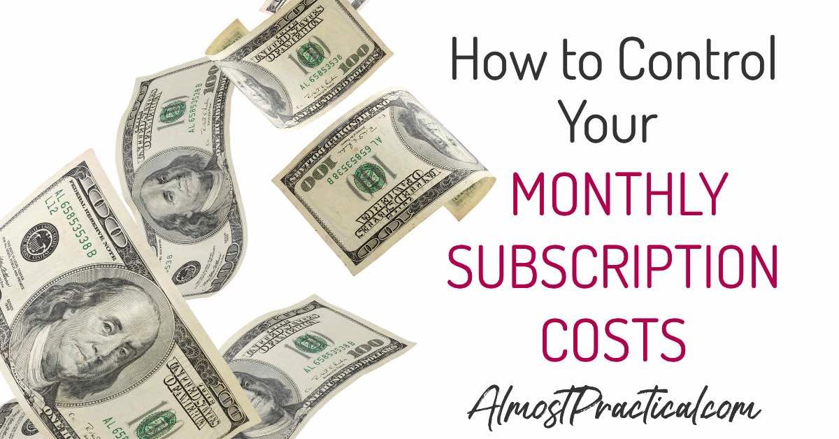 Monthly subscription costs