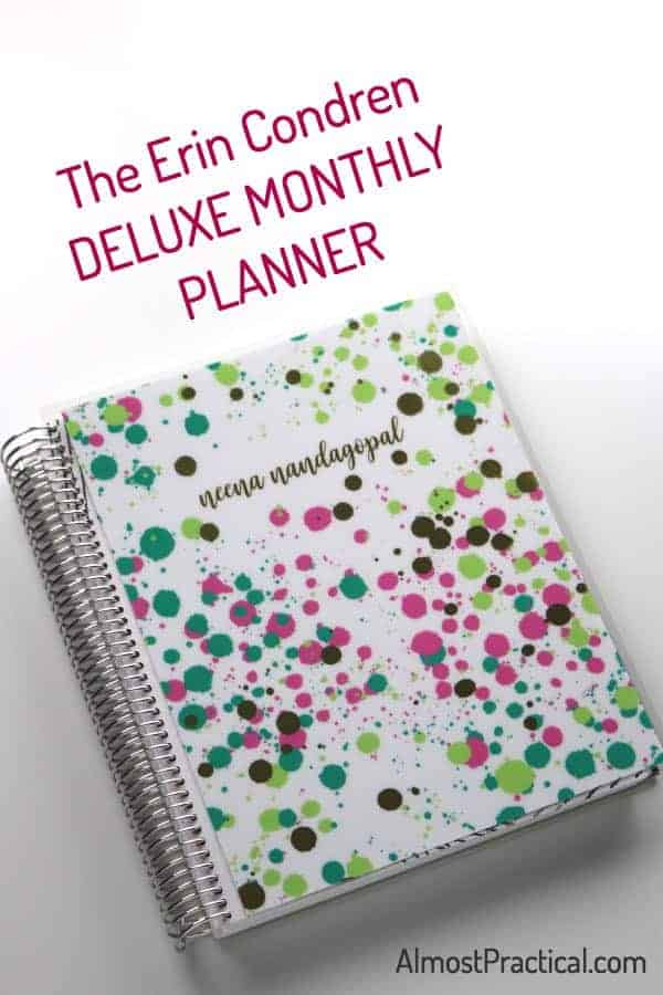 My Erin Condren Deluxe Monthly Planner