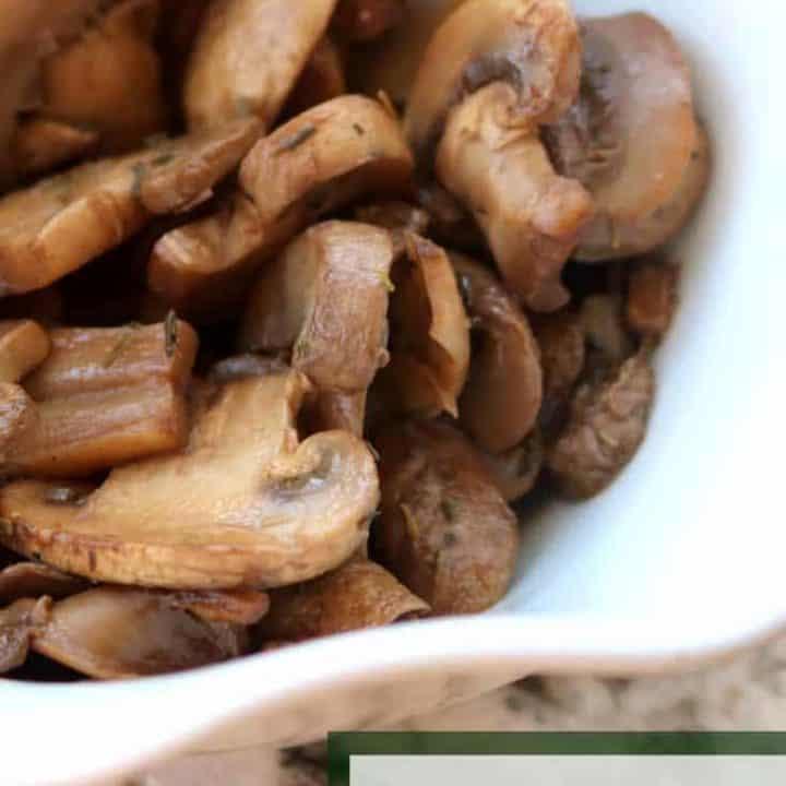 Simple Sautéed Mushrooms Recipe with Thyme