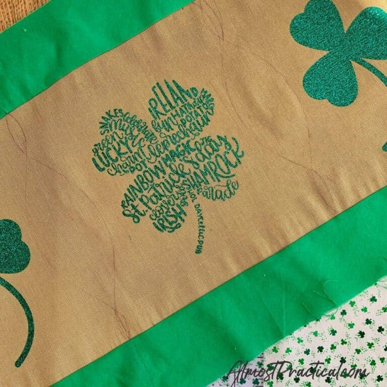 DIY St. Patrick's Day Table Runner
