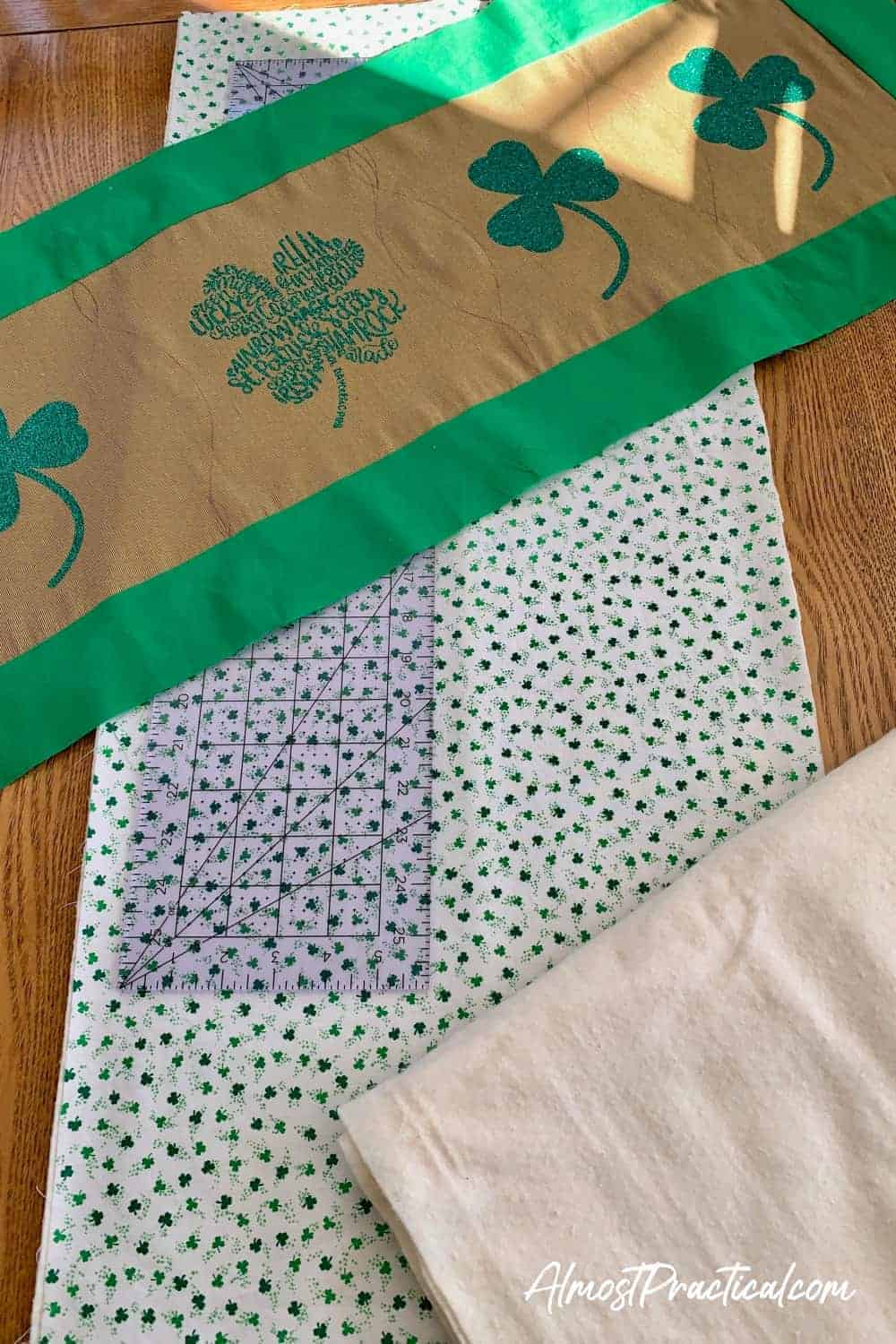 table runner for st patricks day still being created